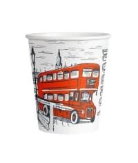 Бумажный стакан London Red d=80 250мл