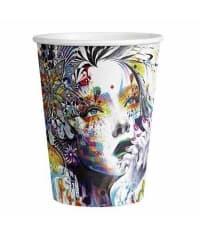 Бумажный стакан Colorful Life d=89 350мл