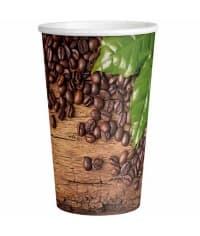 Бумажный стакан Кофейные зерна МИКС d=90 400мл