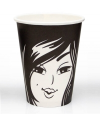 Бумажный стакан Лица d=90 300мл