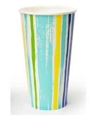 Бумажный стакан для холодного Полоски d=90 500мл