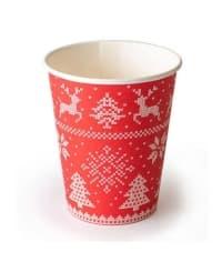 Бумажный стакан Зимние узоры d=80 250мл