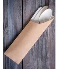 Бумажный конверт для приборов Pocket-M 180*60мм крафт картон