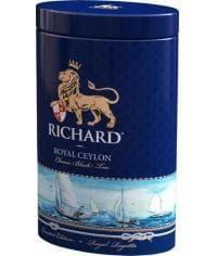 Подарочный чай черный Richard Royal Ceylon листовой 80г жест. банка