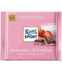 Шоколад Ritter Sport Молочный с Клубникой и Йогуртом 100г