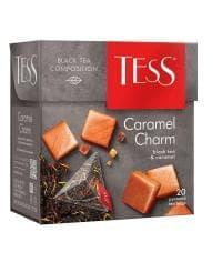 Чай TESS Сaramel Charm черный аромат. 1,8 г х 20 пирам.