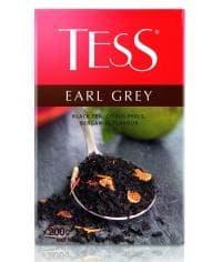 Чай TESS Earl Grey черный листовой с ароматом бергамота 200г