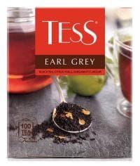 Чай TESS Earl Grey черный с аром. бергамота, 100 х 1,8г