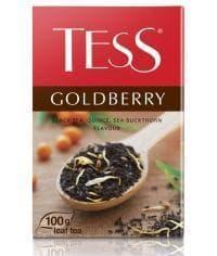 Чай TESS Goldberry черный листовой с облепихой и айвой 100г