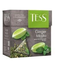 Чай TESS Ginger Mojito зелёный аромат. 1,8 г х 20 пирам.