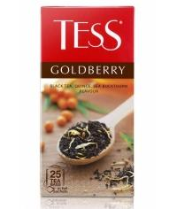 Чай TESS Goldberry черный облепиха айва 25 пак. х 1,5г