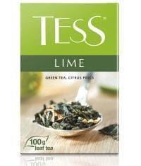 Чай TESS LIME зеленый листовой аромат. 100г