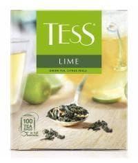 Чай TESS LIME зелёный листовой с добавками 100 пак. х 1,5г