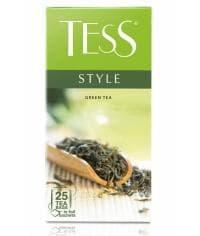Чай TESS STYLE зелёный листовой в пакетиках, 25 х 1,8г