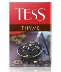 Чай TESS THYME черный байховый с чабрецом 100г