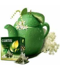 Чай зеленый Curtis Hugo Cocktail зеленый аром. в пирамидках (20 х 1,8г)