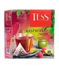 Чай TESS Raspberry Fresh черный аромат. 1,8 г х 20 пирам.