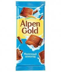 Шоколад Альпен Голд Молочный Alpen Gold 90гр.