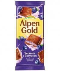 Шоколад Альпен Голд Черника с Йогуртом Alpen Gold 90 г