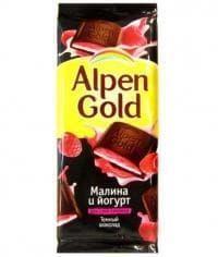 Шоколад Альпен Голд Темный Малина и йогурт Alpen Gold 90 г