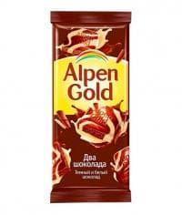 Шоколад Альпен Голд Два Шоколада Alpen Gold 90г