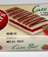 Бисквит 7 Days Cake Bar КЛУБНИКА 30г