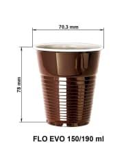 Стаканы FLO EVO d=70.3мм 190мл коричневый
