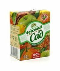 Сок Фруктовый Сад Яблоко/Виноград 200мл тетрапак 0.2