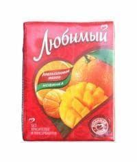 Сок Любимый Апельсиновое Манго 200мл тетрапак