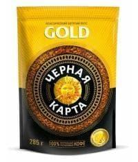 Кофе раств. Чёрная Карта Gold пакет 285 г