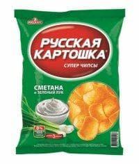 Чипсы Русская Картошка Сметана и лук 20 грамм