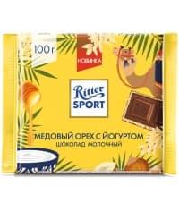 Шоколад Ritter Sport мол. Медовый орех с йогуртом 100г