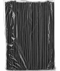 Пластиковые трубочки черные в инд. упак. 240мм d=8мм (500 шт)