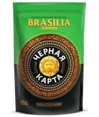 Кофе раств. Черная Карта Exclusive Brasilia пакет 150г