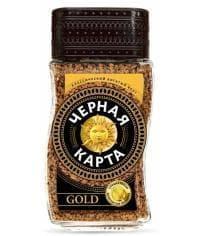 Кофе раств. Чёрная Карта Gold стекл. банка 190 г PROMO
