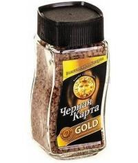 Кофе раств. Черная Карта Gold стекл. банка 95 г