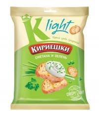Сухарики Кириешки Light Сметана и зелень 33 г