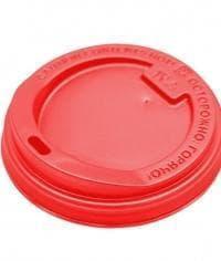 Крышка для стакана Красная d=90