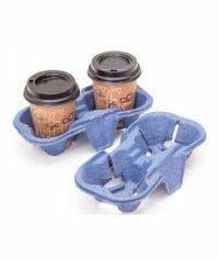 Держатель стаканов cup holder на 2 стакана от 140 мл Синий