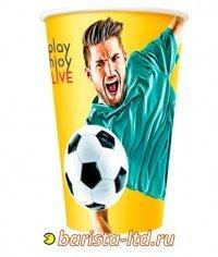 Бумажный стакан Football цветной (100 шт) ∅80 300мл