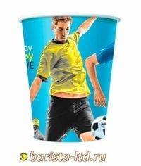Бумажный стакан Football цветной (100 шт) d=70 150мл