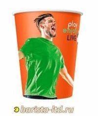 Бумажный стакан Football цветной (100 шт) d=80 250мл
