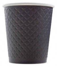 Бумажный стакан Waffle Черный 2-слойный (100 шт) d=90 300мл