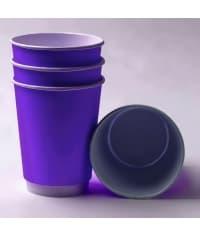 Бумажный стакан 2-слойный Фиолетовый d=90 350мл