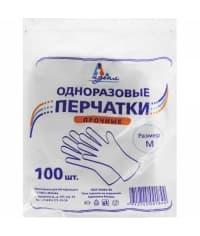 Перчатки ПЭ одноразовые Идеал размер M