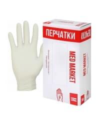 Перчатки смотровые неопудренные винил р. M