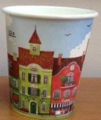 Стаканы бумажные для кофе 250мл Город (100 шт)