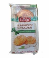 Бельгийское Кокосовое Печенье со сливочным вкусом LeKras 74 г