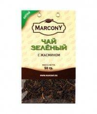 Чай листовой Marcony зеленый с жасмином 50г