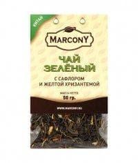 Чай листовой Marcony зеленый с сафлором и жёлтой хризантемой 50г